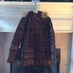 Lands End Brown Coat Lands End brown puffer coat. Size medium. Super comfortable and classy. Lightly worn but in almost new condition. Make an offer! Lands' End Jackets & Coats