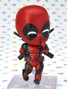 Deadpool is finally joining the Nendoroids! From 'Deadpool' comes a Nendoroid of Deadpool himself! His outfit has been shrunk down into a cute Nendoroid figure which comes with a variety of different expression patterns which can changed by sw. Marvel Dc Comics, Marvel Avengers, Marvel Heroes, Dead Pool, Tottori, Cute Deadpool, Anime Figurines, Good Smile, Bobble Head