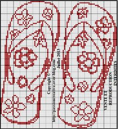 Flip-flops large, found on : http://sd-4.archive-host.com/membres/up/185886628616714501/Grille_point_de_croix_Tongs_rouges.pdf