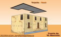 """Maqueta de Papel 1540: Fuerte """"El Morrillo""""-2.-Tejado En un intento por reproducirlo para nuestros seguidores, hemos diseñado la maqueta de papel dividida en distintas partes, siendo esta entrada la que incluye la entrega de la segunda: el tejado del edificio principal."""
