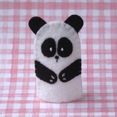 Done for OCC Shoeboxes 2014, 2015. Panda Bear Felt Finger Puppet