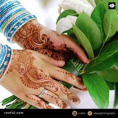 Henna and flowers - elegant - ideal no matter the occasion, wedding or walima - themed by bangle colours