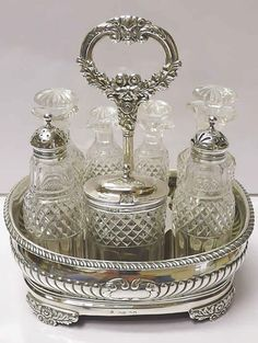 Georgian Silver Cruet, by William Sharp. London, 1822.