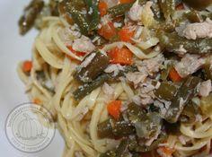 Homemade noodles with vegetables and a recycling >> Tagliolini fatti in casa con verdure e un riciclo