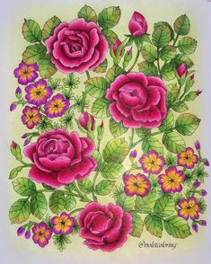 twilight garden finished pages - Yahoo Image Search Results Mandala Coloring, Colouring Pages, Adult Coloring Pages, Coloring Books, Secret Garden Coloring Book, Stitch Games, Book Flowers, Coloring Tutorial, Colouring Techniques
