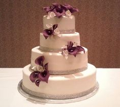 Red Calla Lily Wedding Cake Design 6 Picture in Wedding Cake