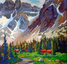 Storyboard, British Columbia, Art School, Acrylic Paintings, Landscape, Artwork, Inspiration, Life, Biblical Inspiration