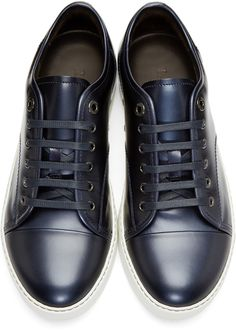 Lanvin - Navy Patent Leather Sneakers 395 EUR / $525.
