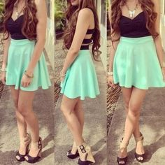 i just luv the combination of light green/turquoise and black