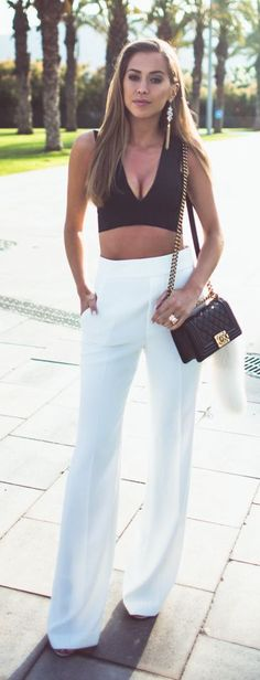 Emmy DE * Chanel Flap Bag ~ Black And White Chic Style by Kenzas