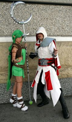 https://flic.kr/p/yx34Ah | (Dryad) Soraka the Starchild, from the MMOG League of Legends, with Ezio, from the Assassins's Creed video games