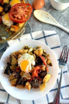 Now this is a Proper Breakfast - Steak Sweet Potato Breakfast Skillet