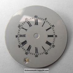 4 St. Emaille Zifferblätter für Taschenuhren, Zifferblatt, pocket Plates, Watches, Tableware, Enamel, Licence Plates, Dishes, Dinnerware, Griddles, Wristwatches