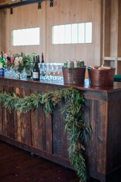 Wedding Receptions rustic chic wedding bar - Honestly, if you could give yourself more time to take in and enjoy your wedding wouldn't you? After seeing this wedding we are totally sold on this idea!