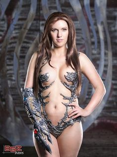 This women is extremely brave and has perfect skin: Witchblade cosplay by Jacqueline Goehner at DragonCon!