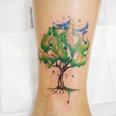 tattoo / aquarela / tree