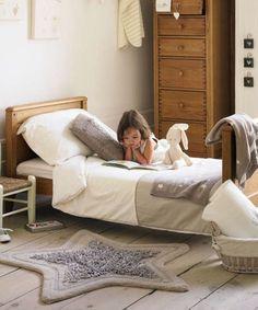 habitaciones infantiles 2 Dormitorio para niños en tonos naturales