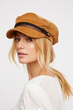 Caramel Piper Lieutenant Hat at Free People Clothing Boutique