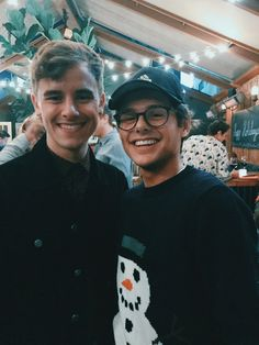 Mikey with Connor Franta