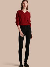 Skinny Fit High-Rise Deep Black Jeans