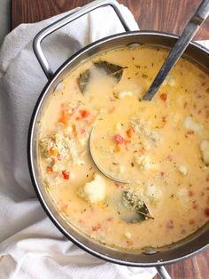 Quinoa and Cauliflower Chowder by foodiecrush #Soup #Chowder #Quinoa #Cauliflower #Healthy