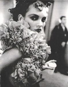Kate Moss backstage at John Galliano F/W 1995