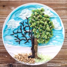 Food Art. Inspired by our church's theme on Easter Sunday. I love the message behind it. It's about resurrection, hope and faith.