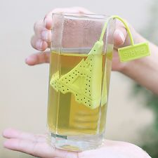 Hot Tower Infuser Loose Tea Leaf Strainer Herbal Spice Silicone Filter Diffuser
