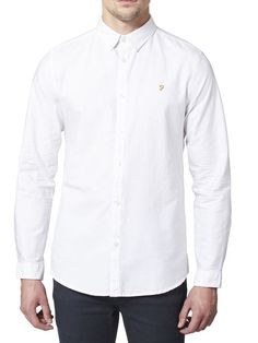 THE BREWER SLIM FIT SHIRT, White, hi-res