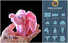 DIY Towel Elephant Gift Wrapping Tutorials - Washcloth - Ideas of Washcloth - DIY Towel Elephant Gift Wrapping Tutorials Gift Wrapping Tutorial, Elephant Crafts, Towel Animals, How To Fold Towels, Baby Washcloth, Towel Crafts, Towel Wrap, Baby Towel, Elephant Baby Showers