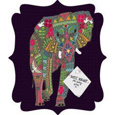 Elephant quatrefoil magnet board starting at $99.00 by DENY