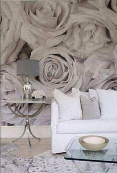 Sensationally designed residence in the Hamptons.  Love the wallpaper