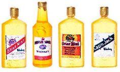 Vintage Whiskey Bottles   Marys Dollhouse Miniatures