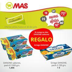 #Oferta en yogures: al llevarte dos packs de Danone sabores, te regalamos yogures griegos! #postres #saludables