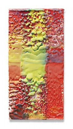 Lynda Benglis  Untitled - 2009  Pigmented encaustic wax on canvas mounted on wood  50,5 x 25 cm / 19,9 x 9,8 in.