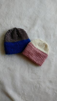 cd09134907c Quick Knit Double Brim Preemie Hat. Baby Hat Knitting PatternBaby ...