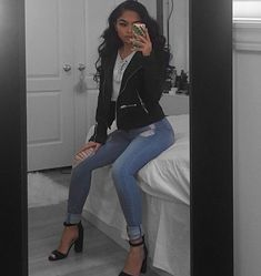 "13.7k Likes, 66 Comments - @melissacalma on Instagram: ""suede jacket from @laurasboutique ❤"""