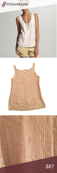 J.Crew COLLECTION Sequin Sleeveless Top New without tags. Super chic. Size 2, 100% silk. J.Crew Collection J. Crew Tops