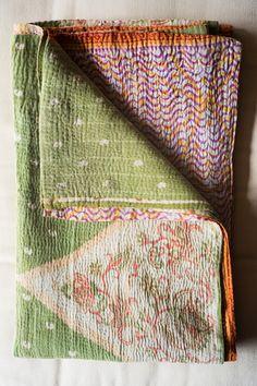 Hand-Stitched Kantha Gudri Throw Blanket 028