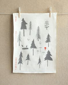 Makelike A Walk In The Forest Tea Towel