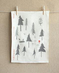 Makelike A Walk In The Forest Tea Towel