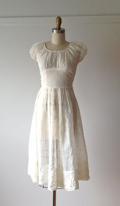 vintage 1930s white flocked dress for the Graduation scene in the second act