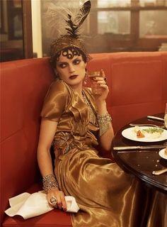 twenties style flapper dress and 1920 s fashion accessories Vogue Paris ae127b37b4d49