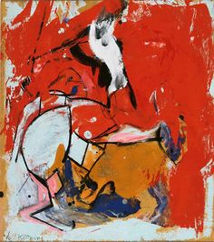 Willem de Kooning - Untitled, 1948 ::: Oil on paper, Gift of Judith H. Miller, 1990. © The Willem de Kooning Foundation / Artists Rights Society (ARS), New York. #AbstractArt