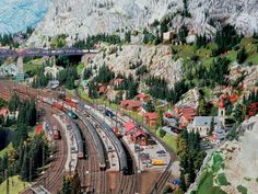 Large is an understatement!Miniatur Wunderland in Hamburg, Germany, is home to the world's largest model railway, with miniature replicas of famous destinations around Europe and America. The level of detail is incredible and the figures are simply mind-boggling: - Model area = 1,150 sq. meters (12,378 sq ft) - Track length = 12,000 meters (39,370 ft) - [...]