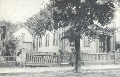 The Borden House at 92 Second Street & the barn at the rear, where Lizzie claimed to be during the murders