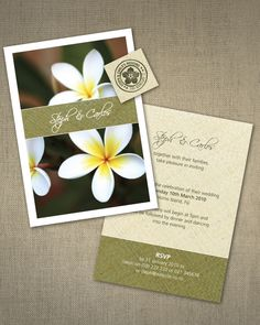 Wedding Invitation that is great for tropical island weddings
