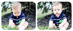 10 month old baby playing in grass fort myers florida photographer