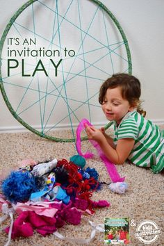 Use an old hula hoop for a fun kids' weaving project.