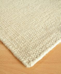 White Flour Wool Berber Solid Rug - transitional - Rugs - Bliss Home and Design